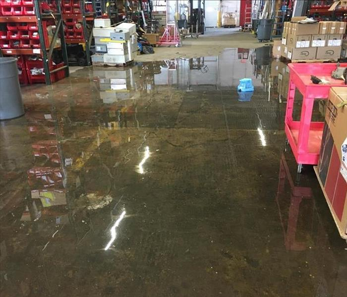 Warehouse Experiences Major Water Loss Before